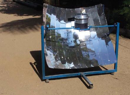 la cuisson solaire un cuiseur solaire parabolique. Black Bedroom Furniture Sets. Home Design Ideas